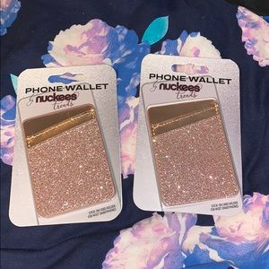 Nuckees Trends Phone Wallet Pink Sparkles